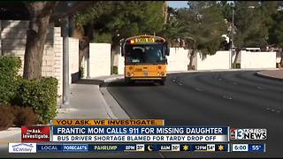Mom calls 911 over special needs daughters missing bus - Video