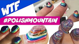 Polish Mountain nail art - Challenge | Dearnatural62 - Video