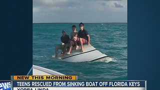 Orange County teens rescued from sinking boat in Florida - Video