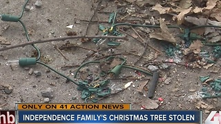 Real-life Grinch steals children's Christmas tree and decorations - Video