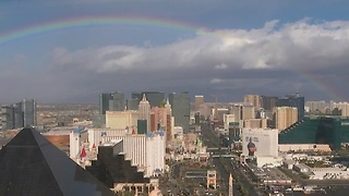 Rainbows and rain in the Las Vegas valley - Video