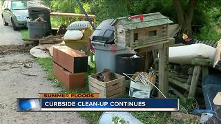 Curbside cleanup continues in Burlington