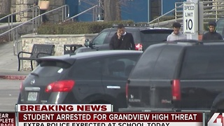 UPDATE: Juvenile taken into custody after threat towards Grandview High School - Video