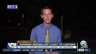 Swimmer missing off the coast of Lantana - Video