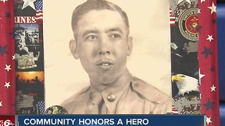 Community honors veteran who died - Video
