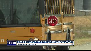 Too many drivers ignoring stopped school buses