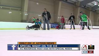 KC Mavericks host kids with special needs - Video