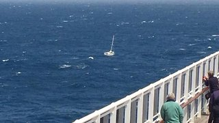 Queen Mary 2 Rescues Sinking Yacht During Transatlantic Race (Photos) - Video