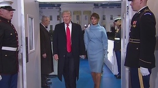 President Donald Trump arrives at White House - Video
