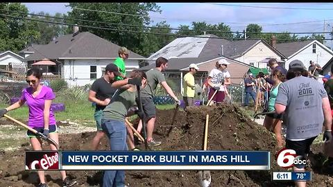New pocket park built in Mars Hill