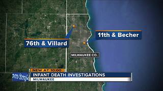 Investigators looking into a pair of infant deaths - Video