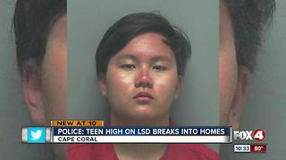 Police: Teen high on LSD goes on crime spree - Video