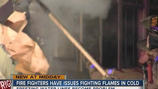 Tulsa Firefighters have issues with cold weather - Video