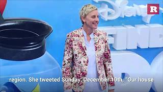 Ellen DeGeneres Evacuates Because Of Wildfires