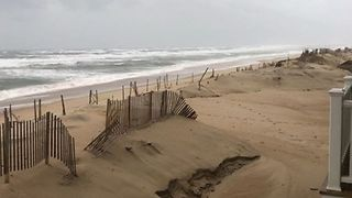 North Carolina Dunes Destroyed After Hurricane Florence Batters Coast - Video