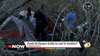 Chargers facility considered for shelter - Video