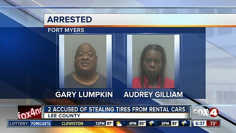 Pair arrested for stealing tires off rental cars in Fort Myers