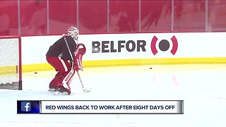 Red Wings back to work after long break