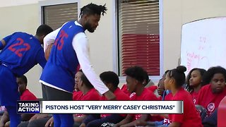 "Pistons host ""Very Merry Casey Christmas"""