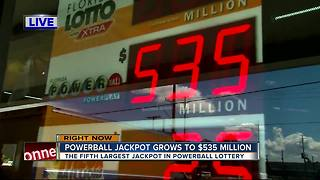 POWERBALL jackpot at $535 million - Video