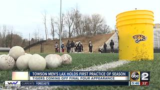 Towson men's lacrosse holds first practice of season - Video