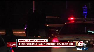 Man found shot to death on sidewalk on Indianapolis' east side - Video