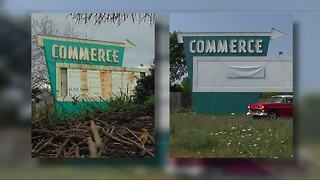 New life for Commerce Township drive-in sign - Video