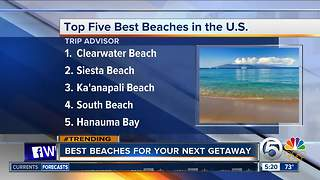 Florida beaches No.1 and No.2 in Trip Advisor list - Video