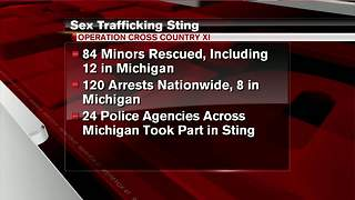 8 trafficked children rescued in Michigan, 54 arrested - Video