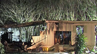 Fire destroys mobile home