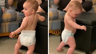 Dancing baby shows off hysterically adorable dance moves