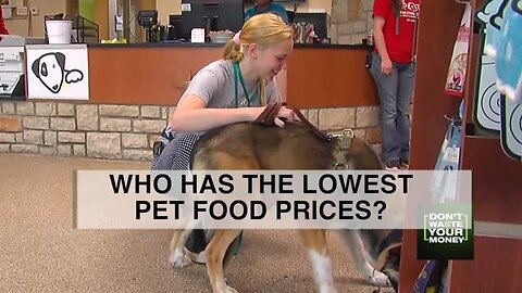 Who has the lowest pet food prices?