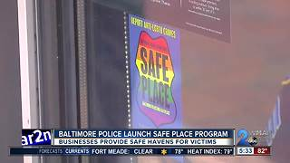 Baltimore Police Department launches Safe Place program - Video