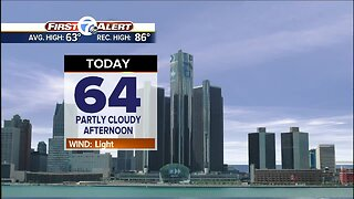 Mild and sunny today