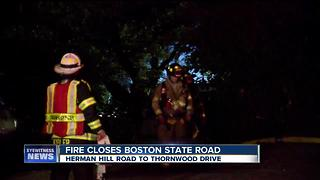 Boston State Road back open after fire - Video