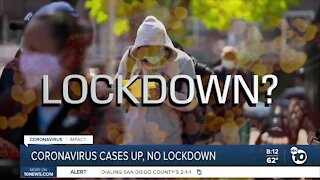 Officials warn of COVID cases rising, hope to avoid lockdown