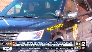 Arrest made in Carroll County police pursuit