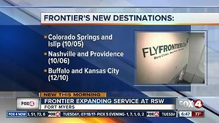 Frontier adding new flights to Fort Myers - Video