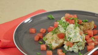 Halibut with Watermelon Tzatziki - Video