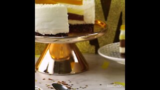 Passion Fruit and Chocolate Cheesecake