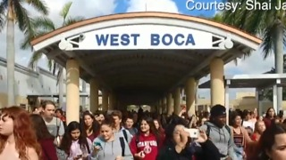 Local students walk to Parkland in protest - Video