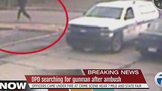 Detroit police searching for gunman after suspect fires at officers - Video