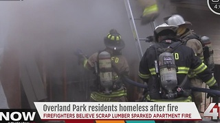 Six people left homeless after Overland Park fire - Video