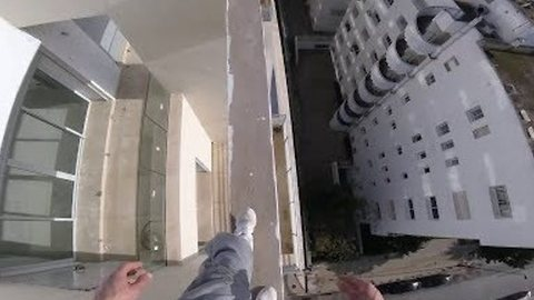 Fearless Dare Devil Performs Balancing Acts on Moroccan Roof Top