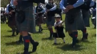Young Bag Piper's Dream Comes True as He Marches in Band - Video