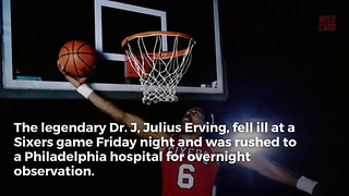 "Julius ""Dr. J"" Irving Rushed To Hospital During 76ers Game - Video"