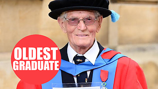 UK's oldest university student after being awarded his second PhD aged 95 - Video