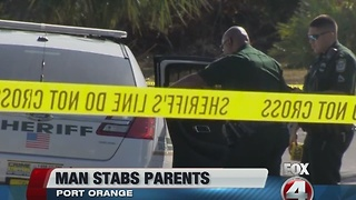 Florida man stabs elderly parents - Video