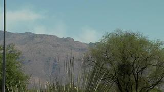 Burro Fire burning in Redington Pass - Video