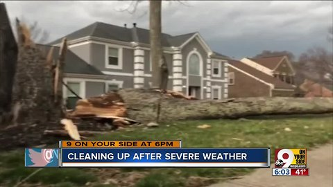 Cleaning up after severe weather
